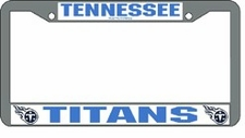 Tennessee Titans Chrome License Plate Frame