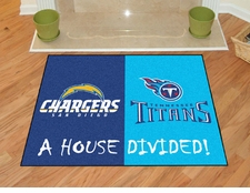 Tennessee Titans - San Diego Chargers House Divided Floor Mat