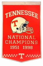 Tennessee Volunteers 24 x 36 Football Dynasty Wool Banner