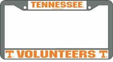 Tennessee Volunteers Chrome License Plate Frame