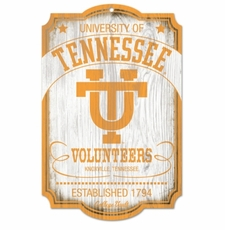 Tennessee Volunteers Wood Sign - College Vault