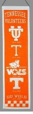 Tennessee Volunteers Wool 8x32 Heritage Banner