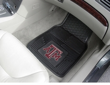 Texas A&M Aggies 2-Piece Heavy Duty Vinyl Car Mat Set