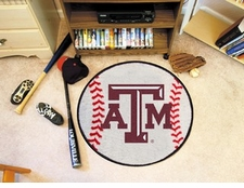 "Texas A&M Aggies 27"" Baseball Floor Mat"