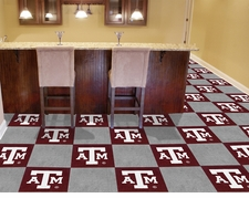 Texas A&M Aggies Carpet Tiles - 20 18x18 Square Tiles