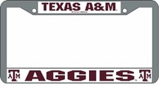 Texas A&M Aggies Chrome License Plate Frame