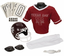 Texas A&M Aggies Deluxe Youth / Kids Football Helmet Uniform Set