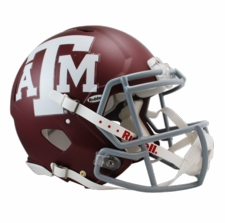 Texas A&M Aggies Red Riddell Revolution Speed Authentic Helmet