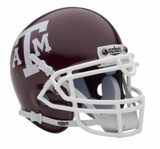 Texas A&M Aggies Red Schutt Authentic Mini Helmet