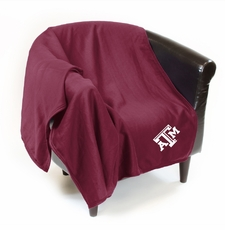 Texas A&M Aggies Sweatshirt Throw Blanket