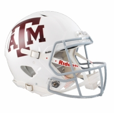 Texas A&M Aggies White Riddell Revolution Speed Authentic Helmet
