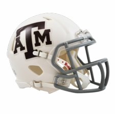 Texas A&M Aggies White Riddell Speed Mini Helmet