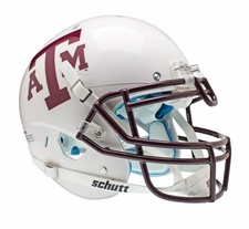 Texas A&M Aggies White Schutt XP Authentic Helmet