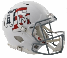 Texas A&M Aggies White Stars and Stripes Riddell Revolution Speed Authentic Helmet