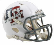Texas A&M Aggies White USA Riddell Speed Mini Helmet