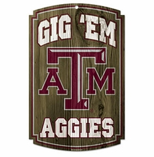 Texas A&M Aggies Wood Sign
