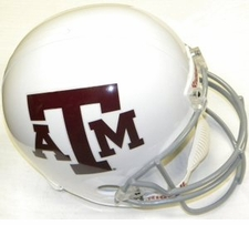 Texas A&M White Riddell Deluxe Replica Helmet