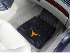 Texas Longhorns 2-Piece Heavy Duty Vinyl Car Mat Set