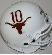 Texas Longhorns 2005 #10 Limited Edition Schutt Replica Helmet