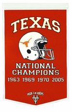 Texas Longhorns 24 x 36 Football Dynasty Wool Banner