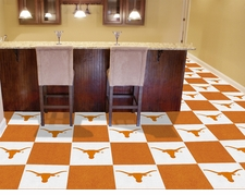 Texas Longhorns Carpet Tiles - 20 18x18 Square Tiles