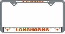 Texas Longhorns Chrome License Plate Frame