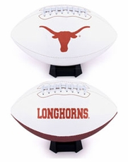 Texas Longhorns Full Size Signature Embroidered Football