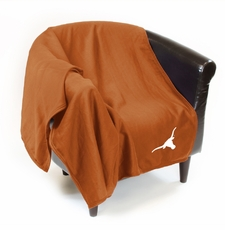 Texas Longhorns Sweatshirt Throw Blanket