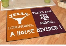 Texas Longhorns - Texas A&M Aggies House Divided Floor Mat