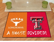 Texas Longhorns - Texas Tech Red Raiders House Divided Floor Mat