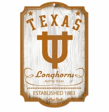 Texas Longhorns Wood Sign - College Vault
