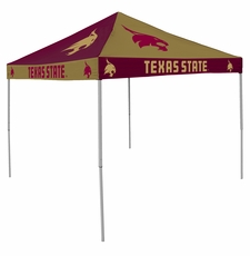 Texas State Bobcats Checkerboard Logo Canopy Tailgate Tent