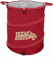 Texas State Bobcats Tailgate Trash Can / Cooler / Laundry Hamper