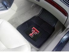 Texas Tech Red Raiders 2-Piece Heavy Duty Vinyl Car Mat Set