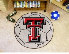 "Texas Tech Red Raiders 27"" Soccer Ball Floor Mat"