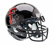 Texas Tech Red Raiders Black Schutt XP Authentic Helmet
