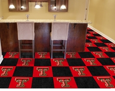 Texas Tech Red Raiders Carpet Tiles - 20 18x18 Square Tiles