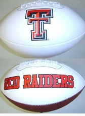 Texas Tech Red Raiders Fotoball Signature Embroidered Full Size Football