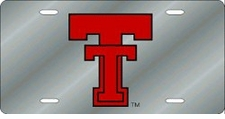 Texas Tech Red Raiders Silver Laser Cut License Plate