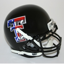 Texas Tech Red Raiders USA Flag Schutt Authentic Mini Helmet