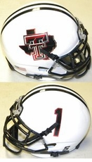 Texas Tech Red Raiders White Pride #1 XP Authentic Mini Helmet