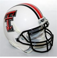 Texas Tech Red Raiders White Schutt Authentic Mini Helmet