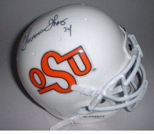 Thurman Thomas Autographed Oklahoma State Cowboys Throwback Mini Helmet