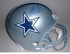 Troy Aikman Dallas Cowboys Autographed Double Inscription Deluxe Replica Helmet