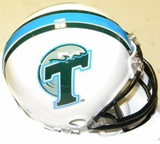Tulane Green Wave White Riddell Replica Mini Helmet