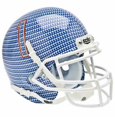 Tulsa Golden Hurricane Carbon Fiber Schutt Authentic Mini Helmet