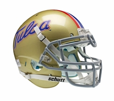 Tulsa Golden Hurricane Gold Schutt XP Authentic Helmet