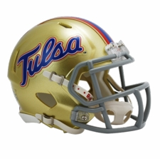 Tulsa Golden Hurricane Riddell Speed Mini Helmet