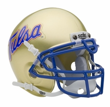 Tulsa Golden Hurricane Schutt Authentic Mini Helmet
