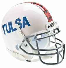 Tulsa Golden Hurricane White Schutt Authentic Mini Helmet